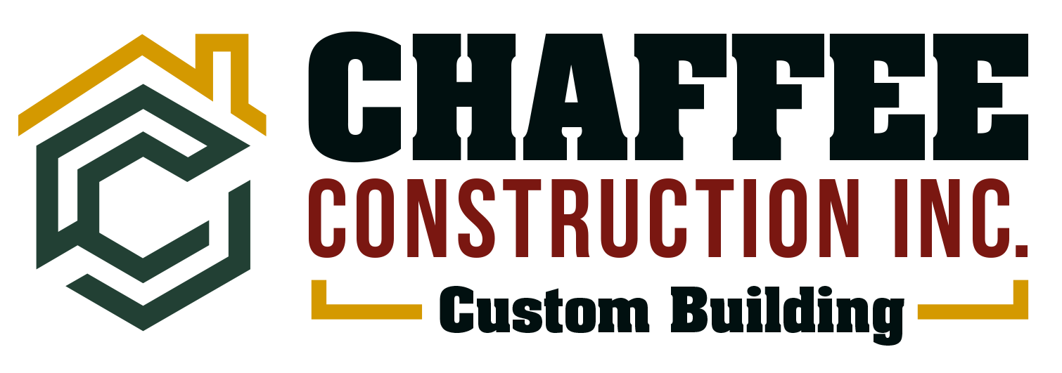 Chaffee Construction Inc Custom Building Logo